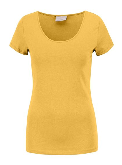 Hořčicové tričko s krátkým rukávem VERO MODA Maxi My