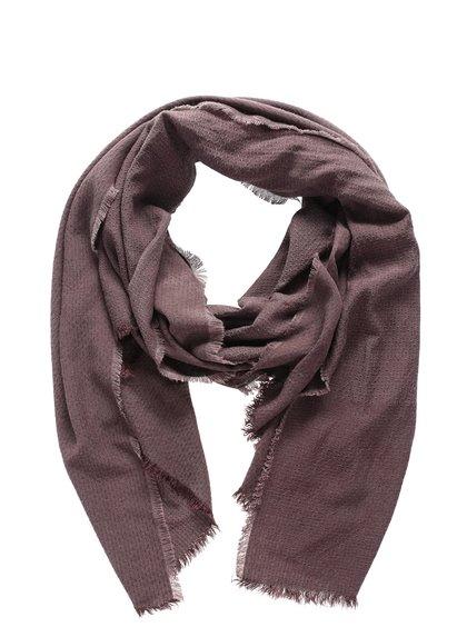 Hnědý dlouhý šátek Vero Moda Milla