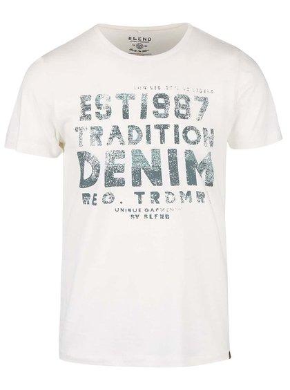Krémové triko s potiskem a  krátkým rukávem Blend