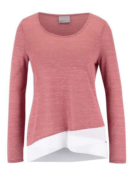 Staroružový melírovaný tenký sveter Vero Moda Babay