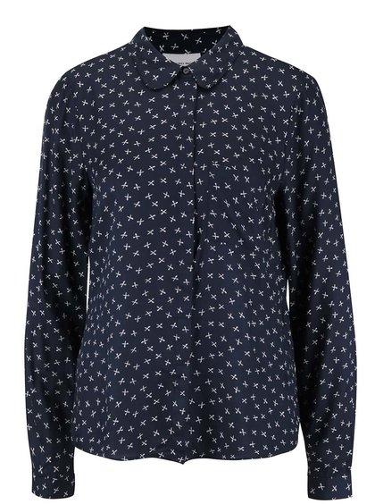 Tmavě modrá vzorovaná košile s dlouhým rukávem Vero Moda Scissor
