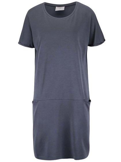 Šedomodré volné šaty s kapsami VERO MODA Elliot