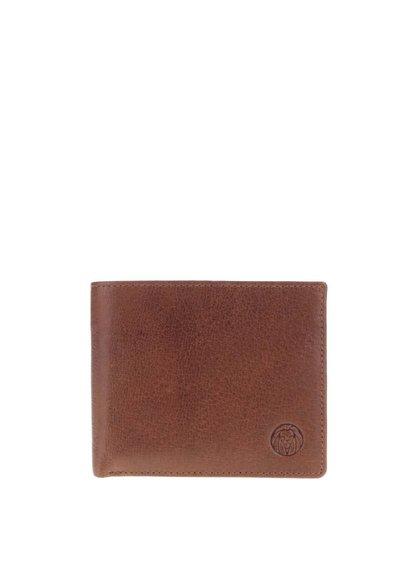 Svetlohnedá pánska kožená peňaženka Lucleon California