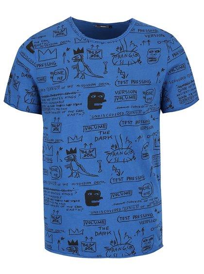 Tricou albastru ZOOT cu imprimeu și text