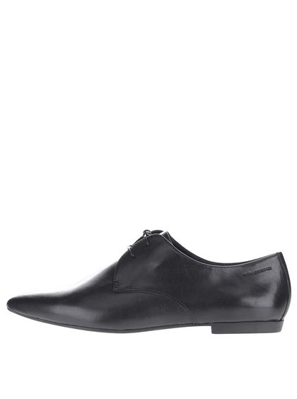 Pantofi negri de piele Vagabond Katlin cu varf ascutit