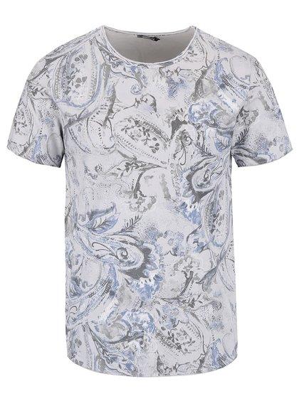 Sivé vzorované pánske tričko ZOOT