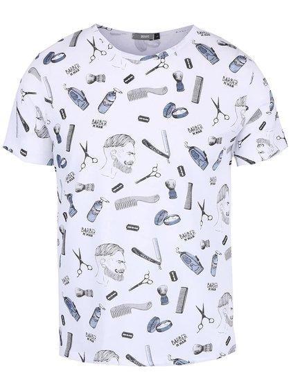 Tricou alb ZOOT cu imprimeu grafic
