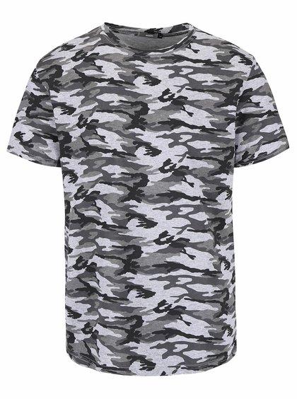 Sivé pánske vzorované tričko ZOOT