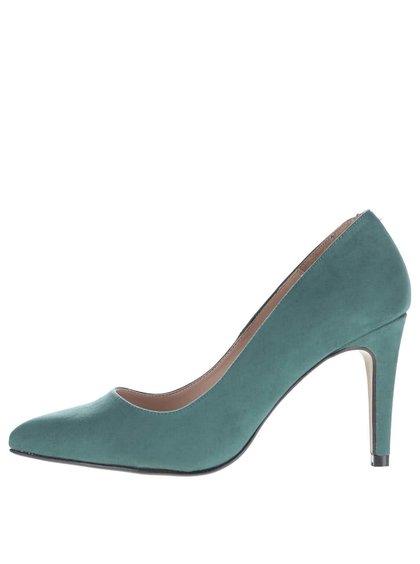 Pantofi cu toc OJJU verde închis