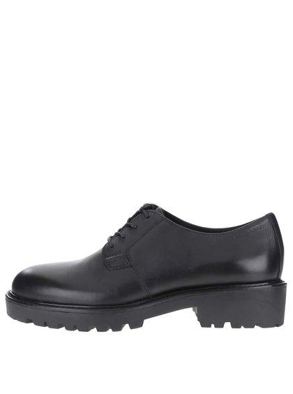 Pantofi negri cu șiret  Vagabond Kenova din piele