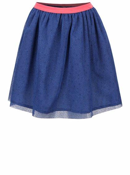 Tmavě modrá holčičí sukně s třpytivým vzorem 5.10.15.