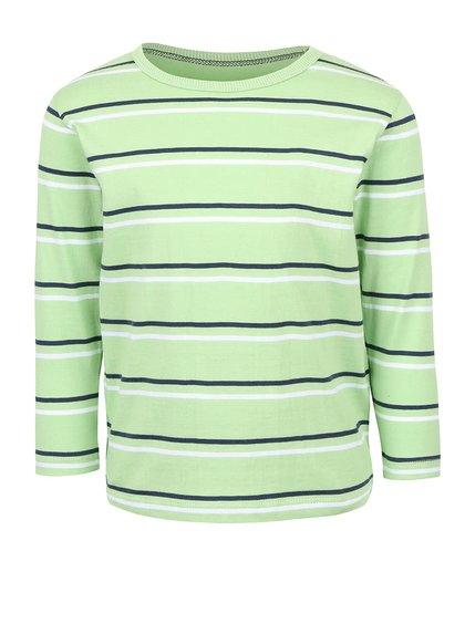 Svetlozelené chlapčenské pruhované tričko s dlhým rukávom 5.10.15.