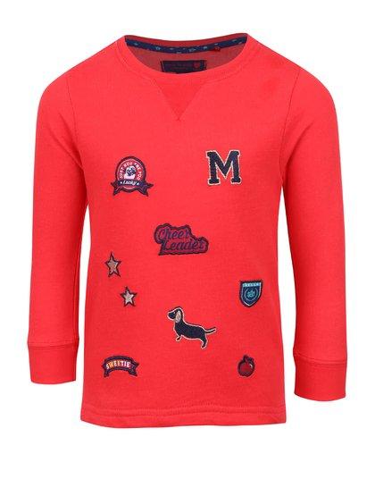 Bluză roșie 5.10.15 cu inserții