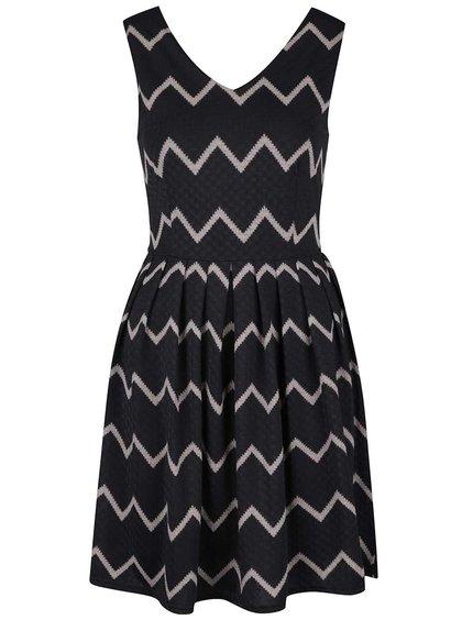 Čierne vzorované šaty Mela London