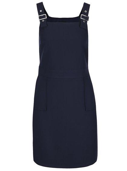 Tmavě modré šaty s nastavitelnými lacly a kapsami Dorothy Perkins