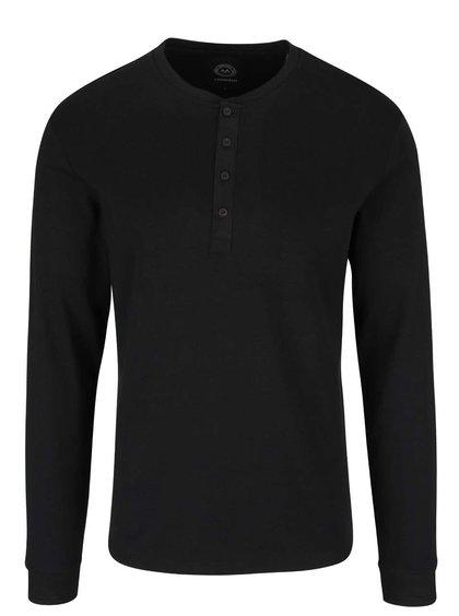 Čierne tričko s gombíkmi Lindbergh