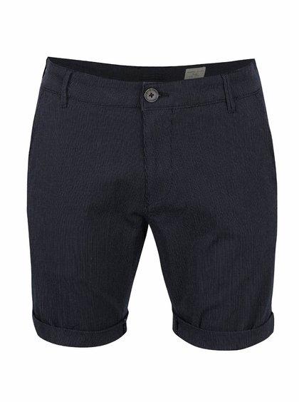 Pantaloni scurți bleumarin Selected Homme Paris cu model