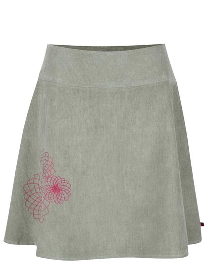 Svetlozelená menčestrová sukňa s výšivkami Tranquillo Tito