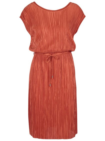 Rochie portocalie Dorothy Perkins cu pliuri