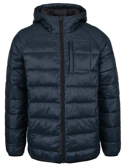 Tmavě modrá prošívaná bunda s kapucí Shine Original