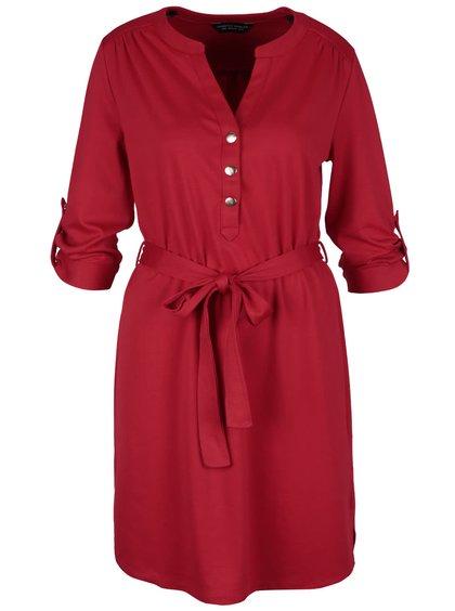 Červené šaty s 3/4 rukávmi Dorothy Perkins