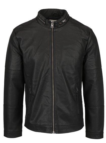 Černá koženková bunda Shine Original