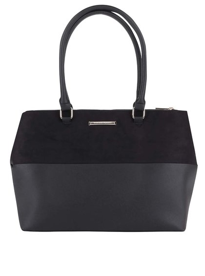 Čierna kabelka so semišovou úpravou Dorothy Perkins