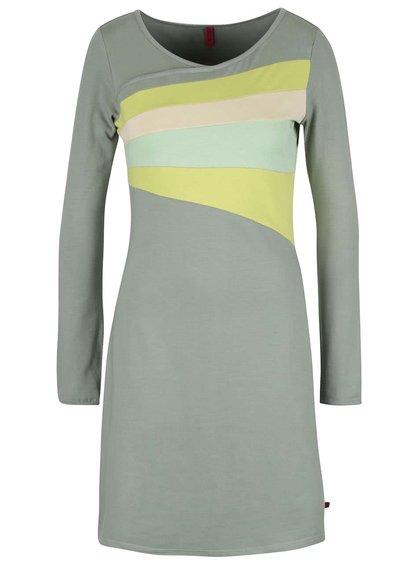 Svetlozelené šaty s dlhými rukávmi Tranquillo Belmonte