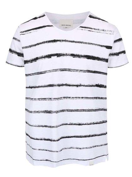 Bílé triko s pruhy Shine Original