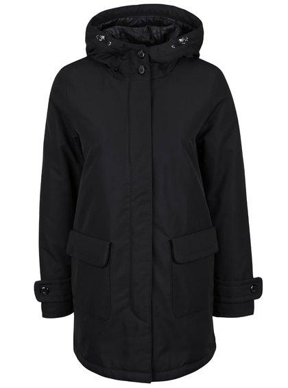 Černý dámský kabát s kapsami Geox