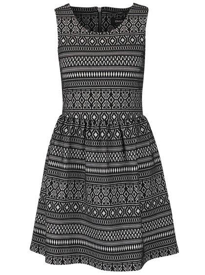 Černé šaty s jemným vzorem ONLY Charlene