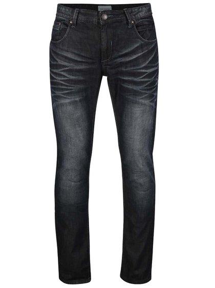 Tmavě modré džíny s opraným efektem Shine Original