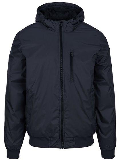 Tmavomodrá bunda s kapucňou Shine Original