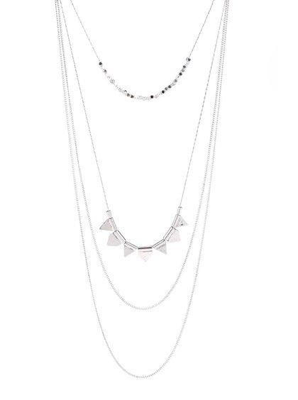 Kaskádovitý náhrdelník v striebornej farbe Pieces Palea