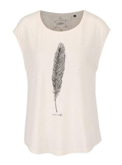 Krémové tričko bez rukávů s potiskem ONLY Madeline