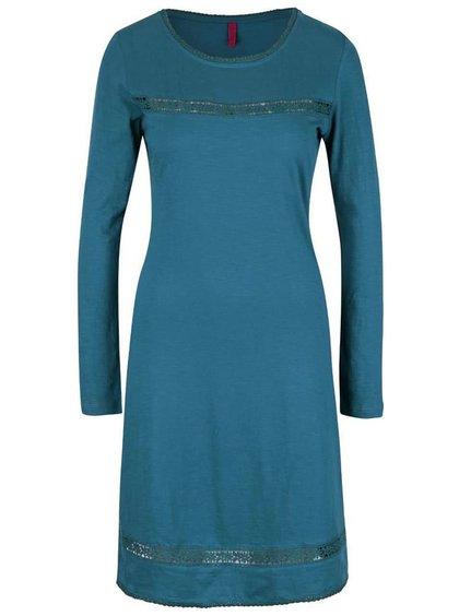 Rochie albastră Tranquillo Neka cu detalii dantelă