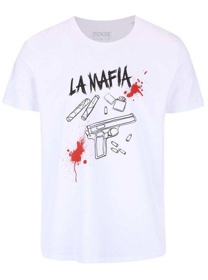 Tricou alb ZOOT Originál La Mafia de bărbați