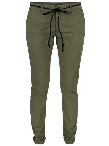 Khaki chino kalhoty s páskem ONLY Garland