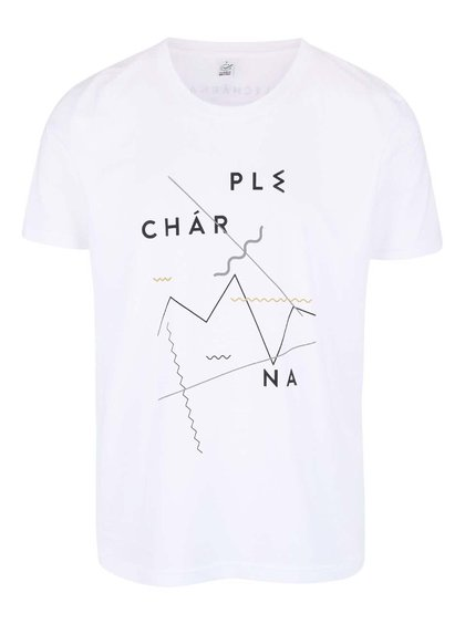 """""""Dobré"""" bílé pánské triko pro Plechárnu"""