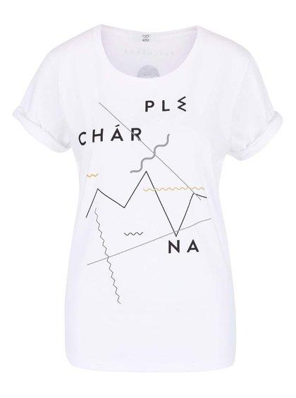 """""""Dobré"""" bílé dámské tričko pro Plechárnu"""