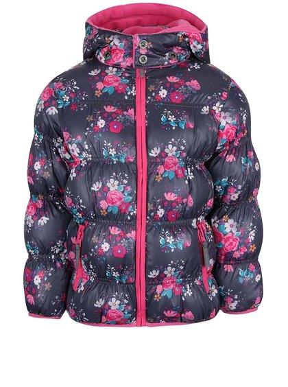 Jachetă bleumarin Blue Seven cu imprimeu pentru fete