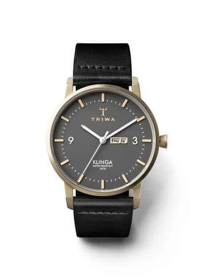 Černé unisex hodinky TRIWA Ash Klinga