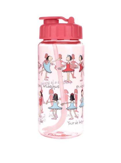 Červená holčičí láhev na pití Tyrrell Katz Ballet