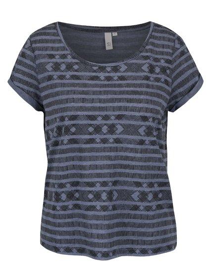 Tricou albastru QS by s.Oliver cu model pentru femei