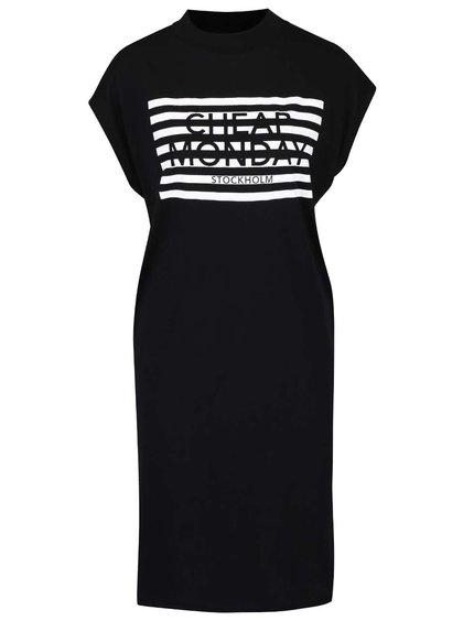Čierne dámske šaty s potlačou Cheap Monday Capsule