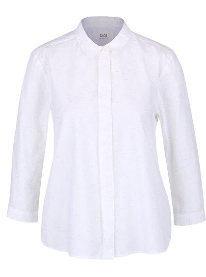 Cămașă albă QS by s.Oliver cu mâneci 3/4 pentru femei