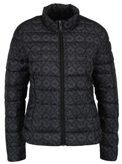 Jachetă matlasată neagră s.Oliver cu model discret pentru femei