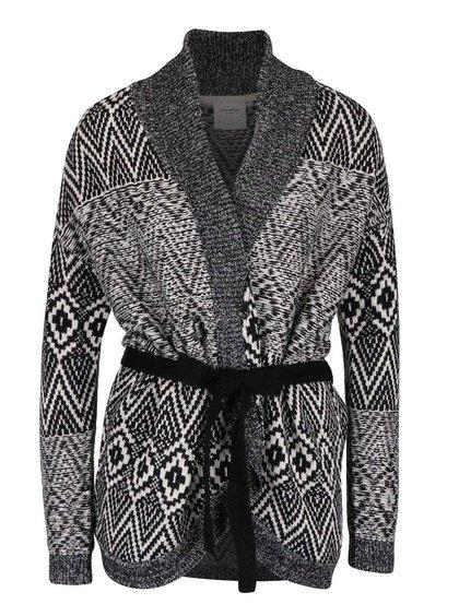 Cardigan negru cu model  Vero Moda Velvet