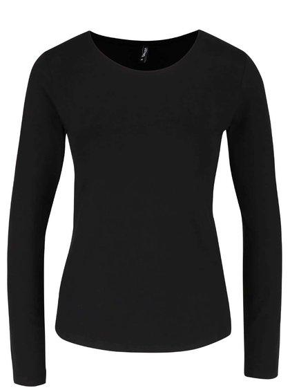 Čierne tričko s dlhým rukávom Haily´s Tina