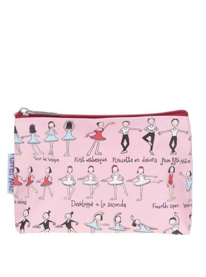 Geantă de cosmetice roz Tyrrell Katz Ballet pentru fete
